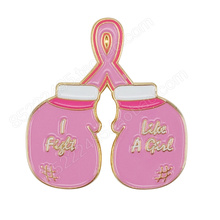 Breast Cancer Awareness Fight Pink Ribbon Lapel Pins