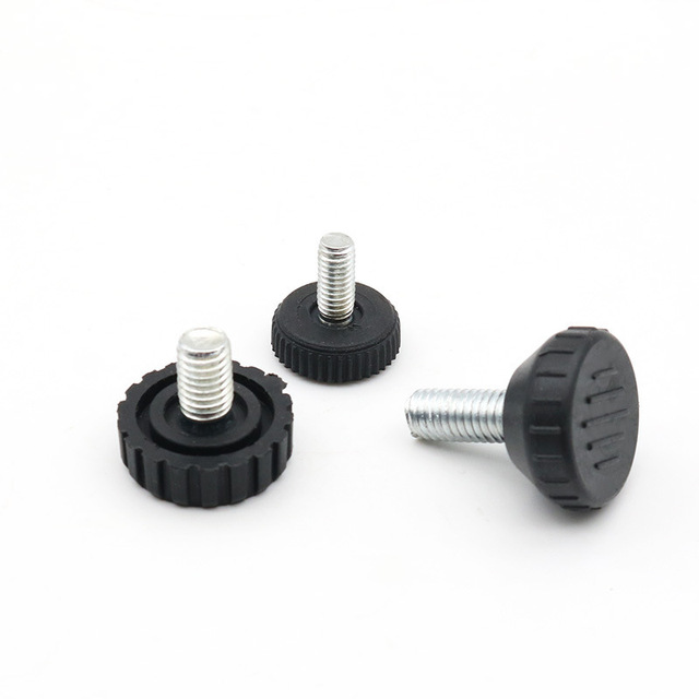 Ideal for Furniture Adjustable Levelling Feet Appliances and Small Equipment M8 Thread with 25mm Foot Diameter Set of 4