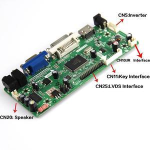 Image 3 - M.NT68676 HDMI DVI VGA LED LCD Controller board Kit DIY für B156XW02 V3/V6 B156XW02 V2/V7 B156XW02 v0/V1 1366X768
