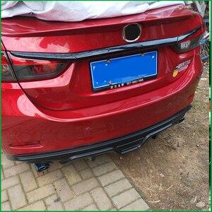Image 5 - Auto styling Kofferraum Deckel Abdeckung Trim Heckklappe Boot Zurück Tür Abdeckung Trim Aufkleber Molding Für Mazda 6 M6 atenza Limousine 2014 2017