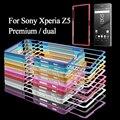 Чехол для Sony Xperia Z 5 Premium двойной Мешок Мобильного Телефона слайд-на Металлический Каркас Телефон Case для Sony Xperia Z5 Premium/Dual Shell