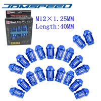 D1 SPEC JDM RACING WHEEL LUG NUTS 40 MM M12X1.25 Fit Pour Subaru Nissan infiniti BLEU
