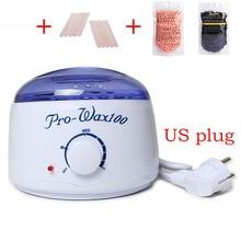 Good! US Plug New Professional Warmer Wax Heater  +Wooden Waxing Wax Disposable Sticks+2* No Strip Hair Removal Bean 100g T3