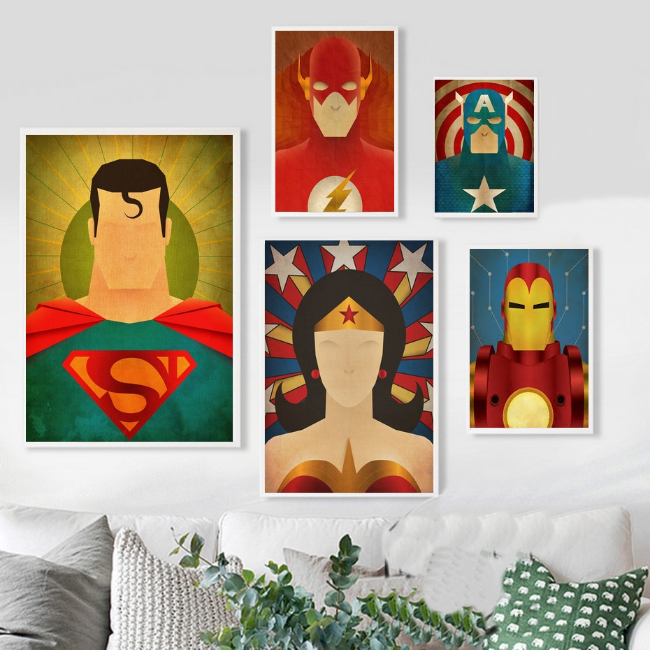 Comics Marvel Avengers Super Heros Film Affiche Art Oil Painting Poster 20x30 inch Prints Home Wall Decor Painting image