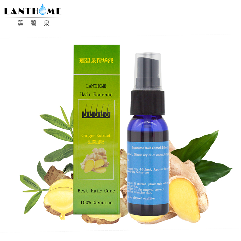 Lanthome natural Ginger extract hair fast growth fiber spray hair follicle stimulation grow essence liquid for hair care product