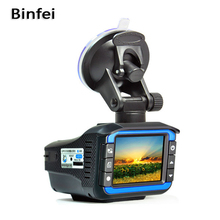 Binfei 3 in 1 Russian Voice Car DVR with Radar laser Detector 720P HD Dash Cam GPS Positioning Fixed and flow velocity detect