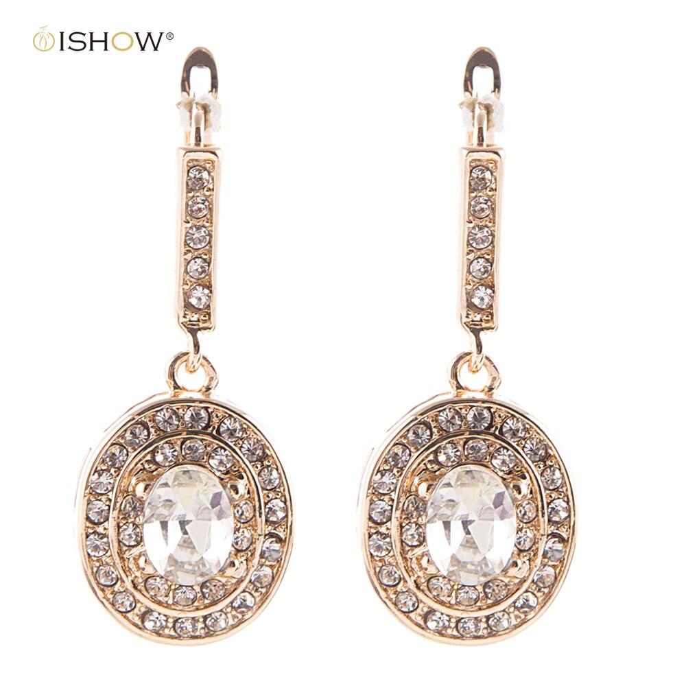 3.5cm Glam Bride Bridemaid Earrings Gold Bridal Jewelry Luxurious Statement Jewellery Vintage Wedding Earrings Woman Brincos