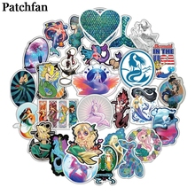 Patchfan 50pcs Mermaid cartoon kids toys stickers DIY scrapbooking Laptop Skateboard Motorcycle Decoration badges Pasters A2049 perrelet classic a2049 1a