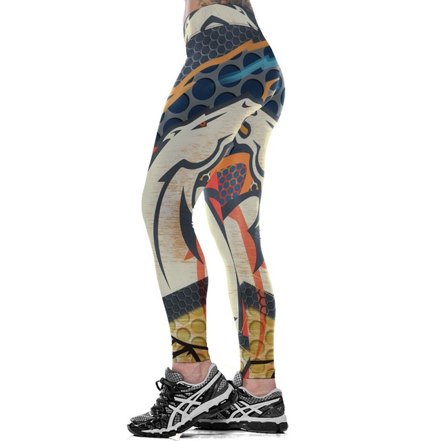Unisex Football Team Broncos Print Tight Pants Workout Gym Training Running Yoga Sport Fitness Exercise Leggings Dropshipping