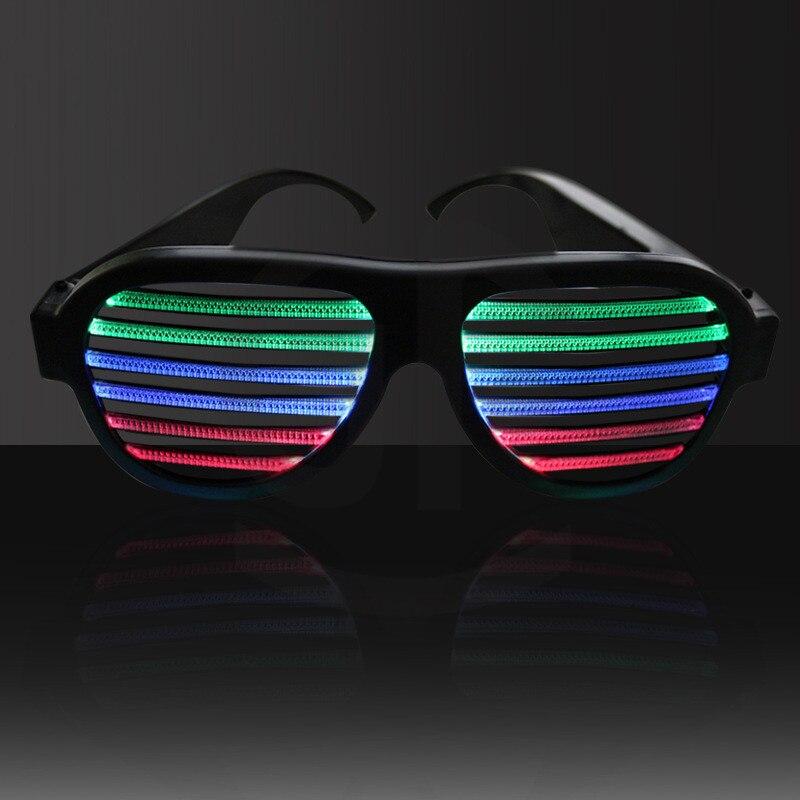 1 Pc Colorido Piscando EL LEVOU Copos Luminosos Óculos de Aniversário Festa de Natal Iluminação Glowing Brinquedos Engraçado Para A Festa de Dança