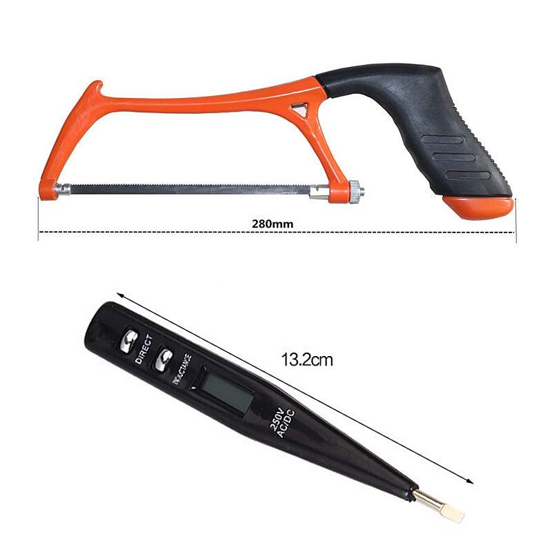 102 PCS Elektrische Hand Tool Set Doos Algemene Huishoudelijke Reparatie Tool Kit met Plastic Toolbox Opslag Case Dopsleutel Schroevendraaier - 4
