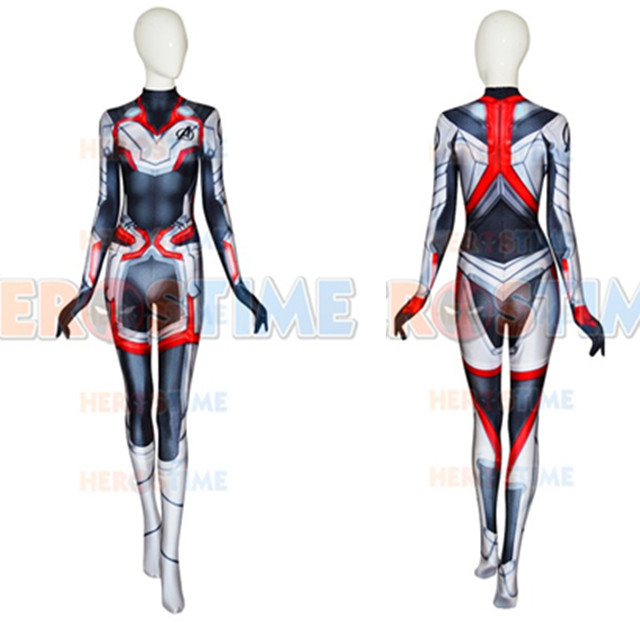 Avengers 4 Endgame Quantum Realm Female Muscle Cosplay Costume 3D Print adult/kids superhero Zentai Bodysuit Suit Jumpsuit