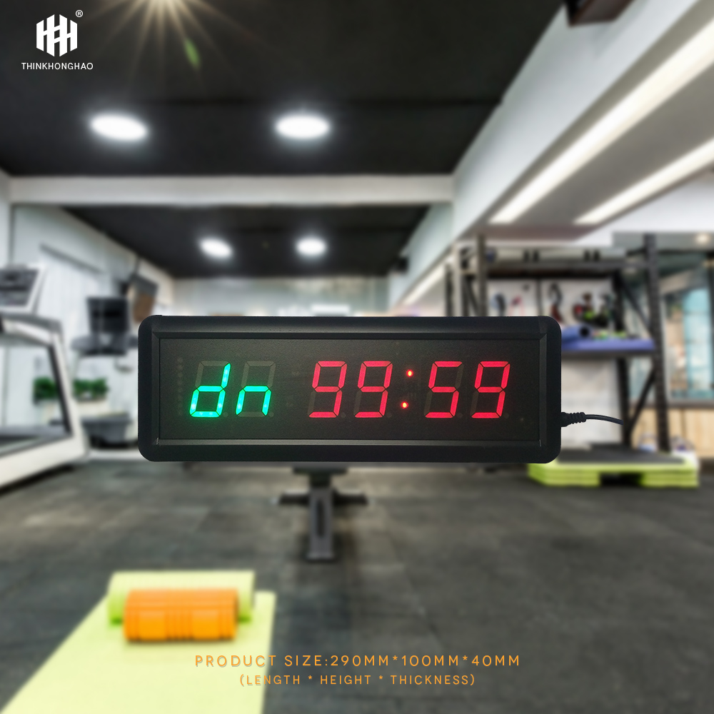 1 5inch 6 digit LED Timer Boxing GYM Crossfit tabata EMOM interval Programmable Countdown UP stopwath Real time clock in Wall Clocks from Home Garden