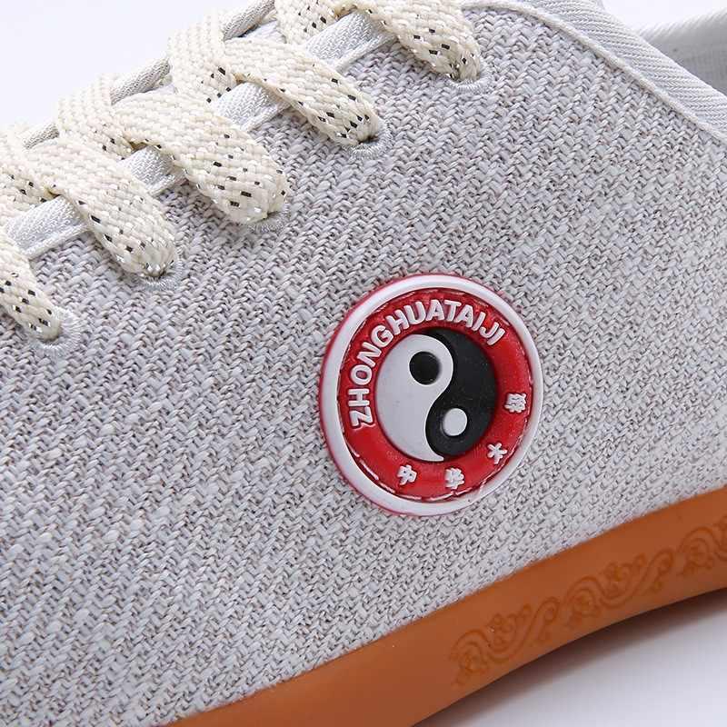 Verano transpirable wushu kungfu zapatos de tela de lino Natural práctica artes marciales zapatos de interior zapatos taichi taiji