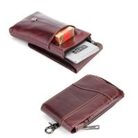 Shoulder Hook Loop Belt Clip Genuine Leather Mobile Phone Case For Oukitel K7000 U7 Plus C3