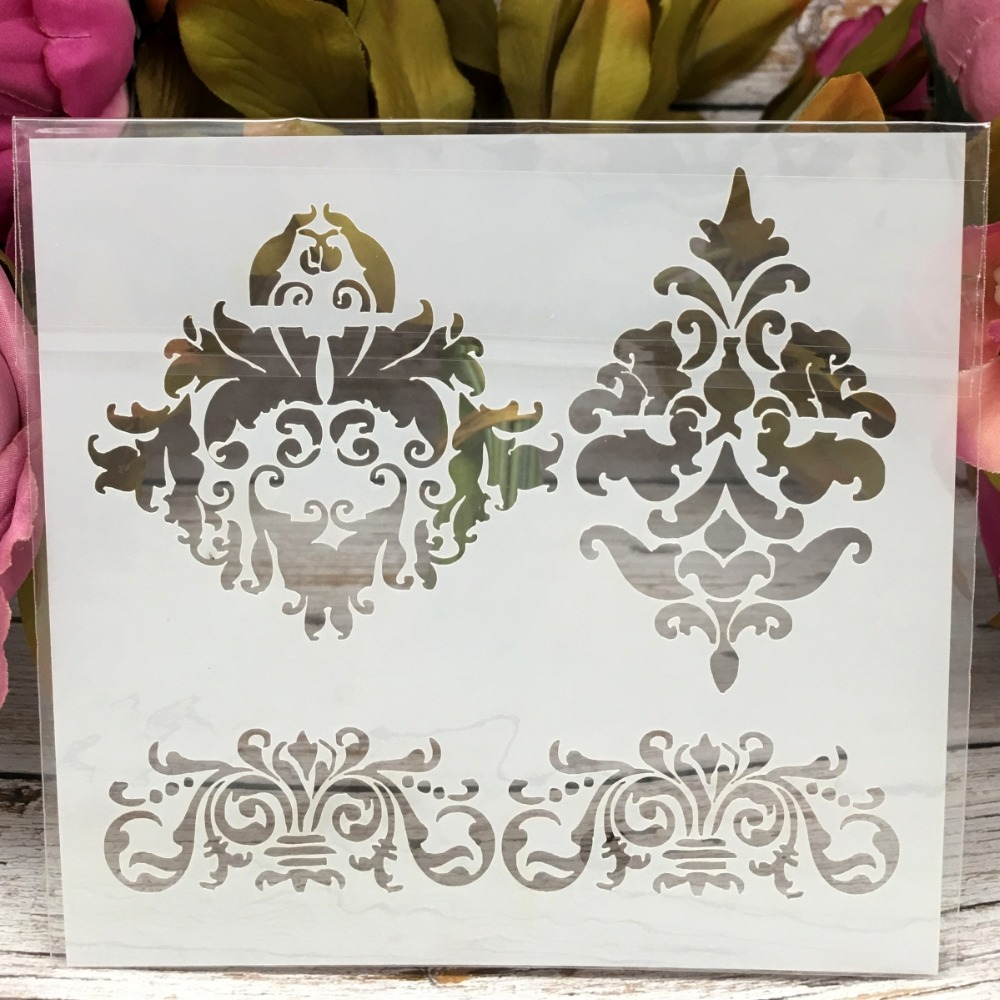 "5"" New Floral DIY Layering Stencils Wall Painting Scrapbook Embossing Album Decorative Paper Card Template"