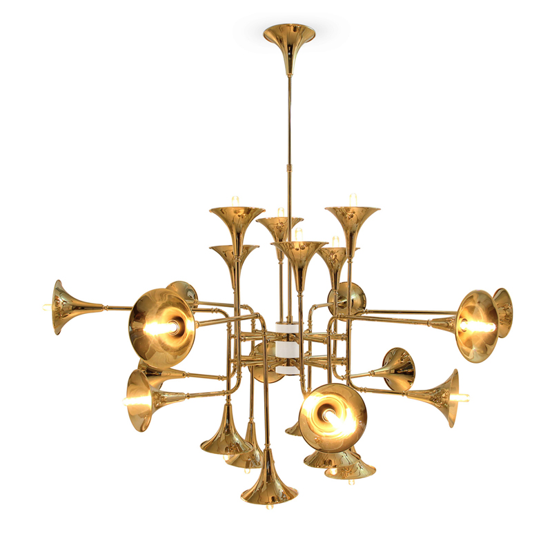 Free Shipping Decorative Poty Chandelier Lighting Nordic Horn LED Chandelier Lamp Modern Living Room Lamp Villa Project Lighting in Chandeliers from Lights Lighting