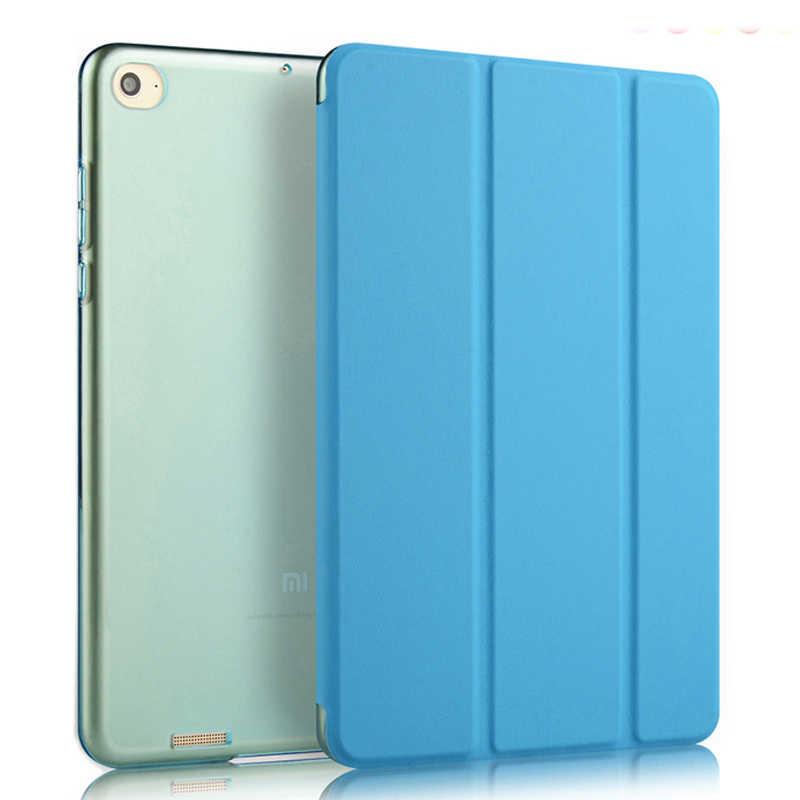 Pu Leer Ultra Slim Case Voor Xiaomi Mipad 1 7.9 Inch Lichtgewicht Hard Pc Back Smart Cover Voor Xiaomi mi Pad 1 + Stylus Pen + Film