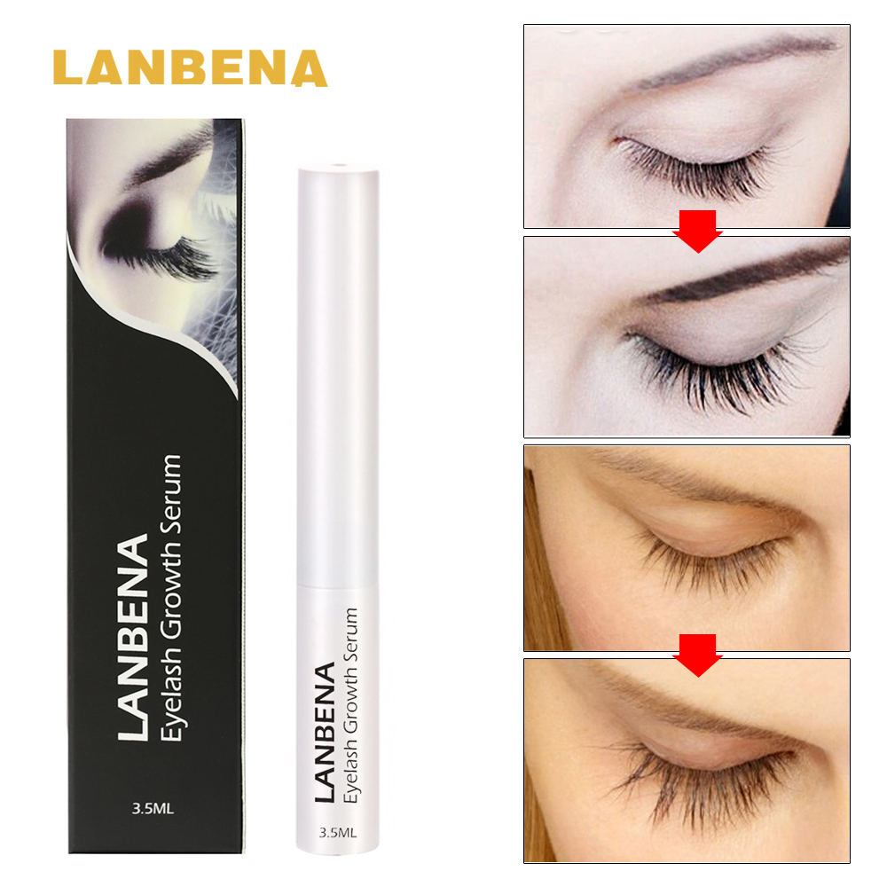 Best Eyelash Growth Serum 2020.Us 2 99 54 Off Lanbena Eyelash Growth Serum 7 Day Eyelash Enhancer Longer Fuller Thicker Lashes Eyelashes And Eyebrows Enhancer Eye Makeup In
