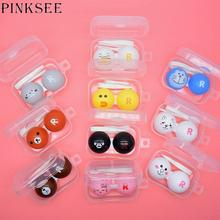 PINKSEE Cartoon Contact Lens Case Cute Bear Duck Animal Pattern Contact Lens Container Travel Portable Contact Lens Storage Box cheap Unisex 62mm 26mm Square 42mm Solid Plastic