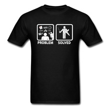 Funny T-shirt Men Tshirt RC Radio Controlled Planes Problem Solved Comics T Shirt 100% Cotton Black White Tops Busy Life Tees