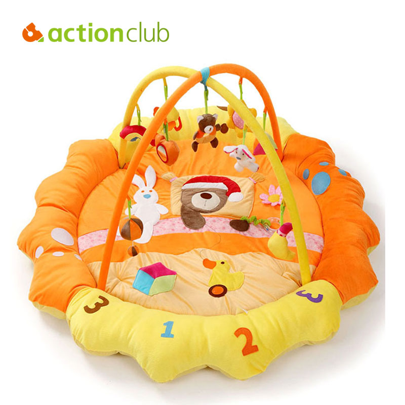 Actionclub Baby Activity Play Mat Newborn Gym Educational Fitness Frame Multi-bracket Baby Toys Game Music Mats Room Carpet cognitive bathtub floating toy bathroom game play set early educational newborn gift baby bath toys
