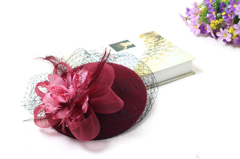 Elegant Wedding Hats and Fascinators Woman for Brides Flowers Ladies headdress