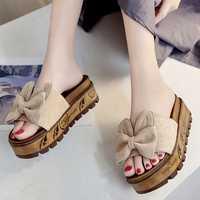 women platform slippers female shoes light designer slides slide sandals woman 2018 summer house ladies fashion footwear black