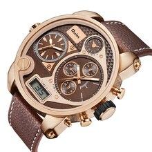 Oulm Dual Display Big Wristwatch Digital Analog Watches Men