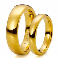 Hot Sale in Brazil Gold Couples Lovers Promised Tungsten Wedding Band Set Ring Alliances of Marriage for Men Women TU025RC
