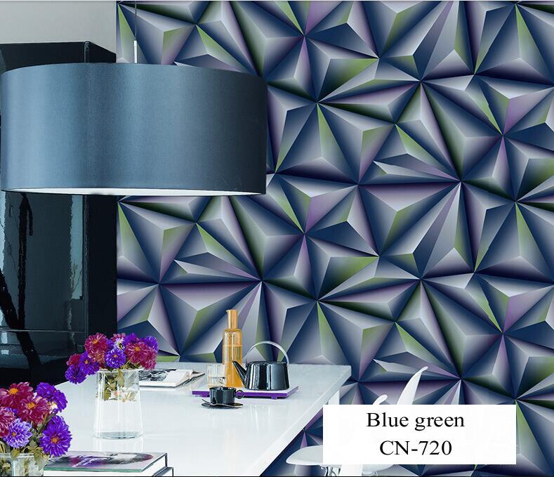 Papier peint pour murs 3 D géométrie trdimensionnelle moderne 4D Tv fond papier peint rouleau argent gris papiers peints pour salon - 3