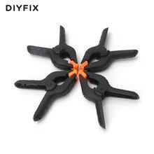 DIYFIX 4 sztuk 110mm 4.3 cal typu A plastikowe nylonowe regulowane zaciski zacisk sprężynowy do papieru tło do zdjęć w tle do obróbki drewna