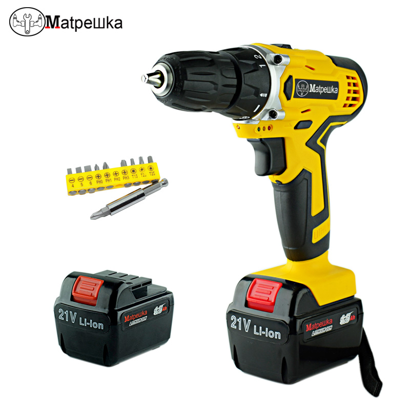 21V Professional Mini Cordless Electric Screwdriver Rechargeable Lithium-ion Battery Electric Electric Drill Power Tools electric cordless drill 16 8v lithium ion dremel drill engraver electric drill power tools two speed rechargeable screwdriver