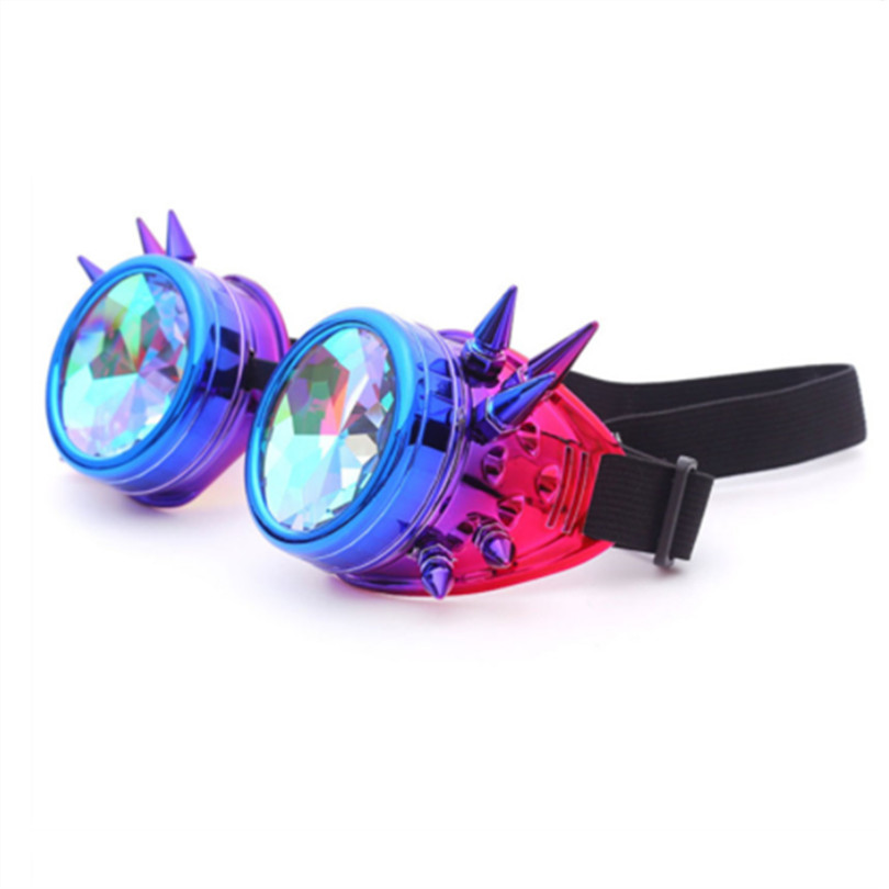47c41eca6eaa Detail Feedback Questions about Kaleidoscope Glasses Cosplay Party Glasses  Women Men Gothic Holographic Rave Festival Steampunk Goggles Sunglasses on  ...