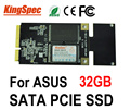 Kingspec mini pcie sata iii ii 3*5 cm 3*7 cm disco duro ssd de 32 gb $ number canales para asus eee pc s101 900 901 900a ep121, ce fcc rohs