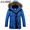 2016 winter men jacket duck down coat fashion thick men canada parka high-quality plus size men warm Winter coat raccoon natural