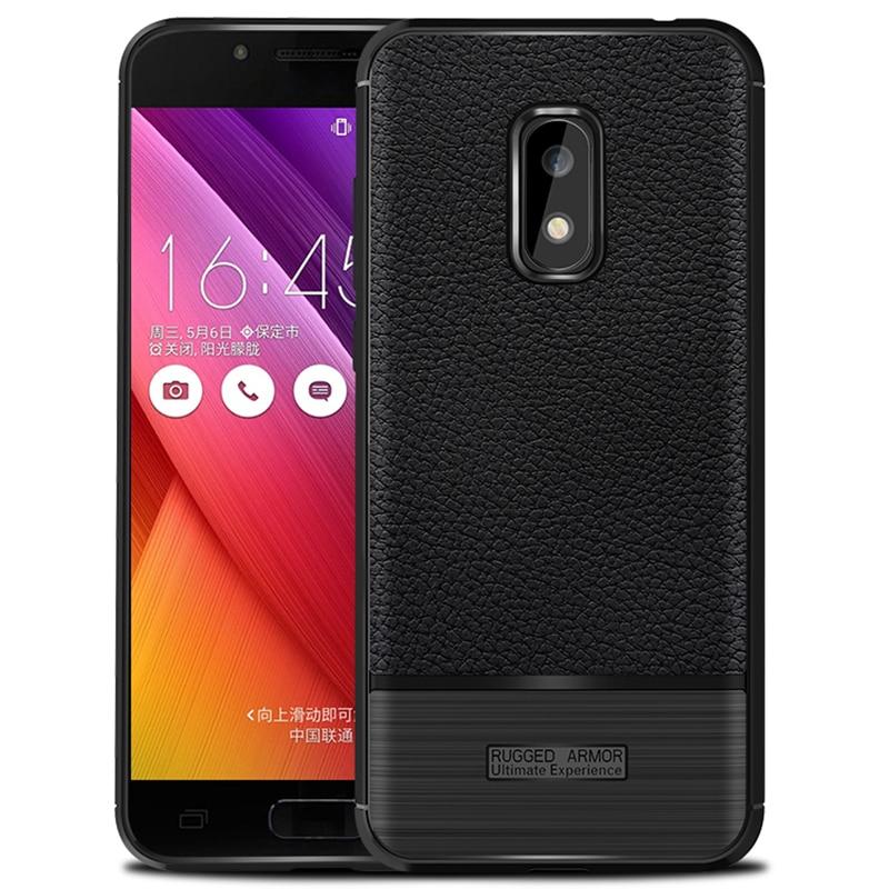 Anti-Fingerprint Case for ASUS ZenFone V Live/V500KL Carbon Fiber Drawbench Burshes Slim Cover Phone Bag Accessory