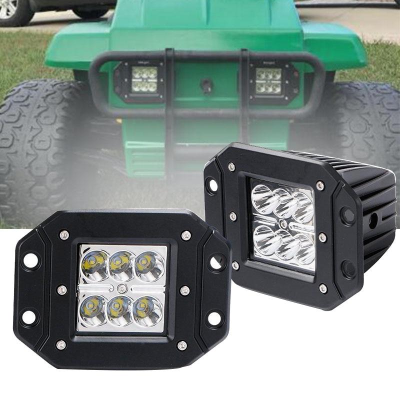 6X 72W LED Spot Flood Beam SUV Off Road Front Driving Fog Lamp Work Lights Bar