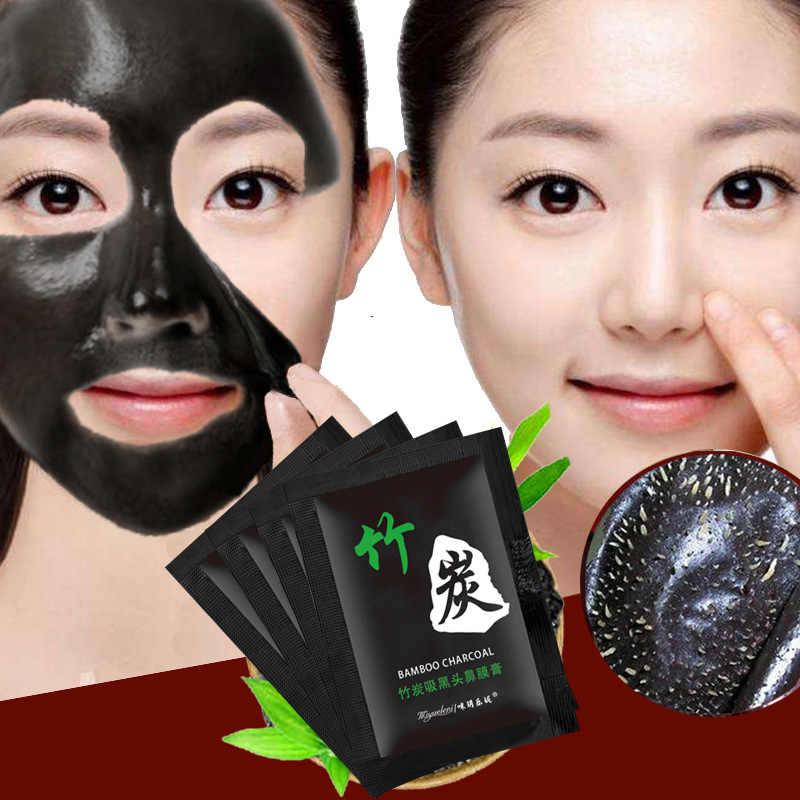 1 sztuk sprzedam bambusowy węgiel drzewny zaskórnika usuń maseczki do twarzy głębokie oczyszczanie oczyszczające odkleić czarny Nud Facail maski na twarz