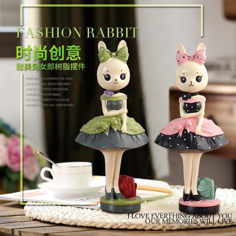 Modne zajčke figurice ornament risanka smola zajček številke - Dekor za dom - Fotografija 2
