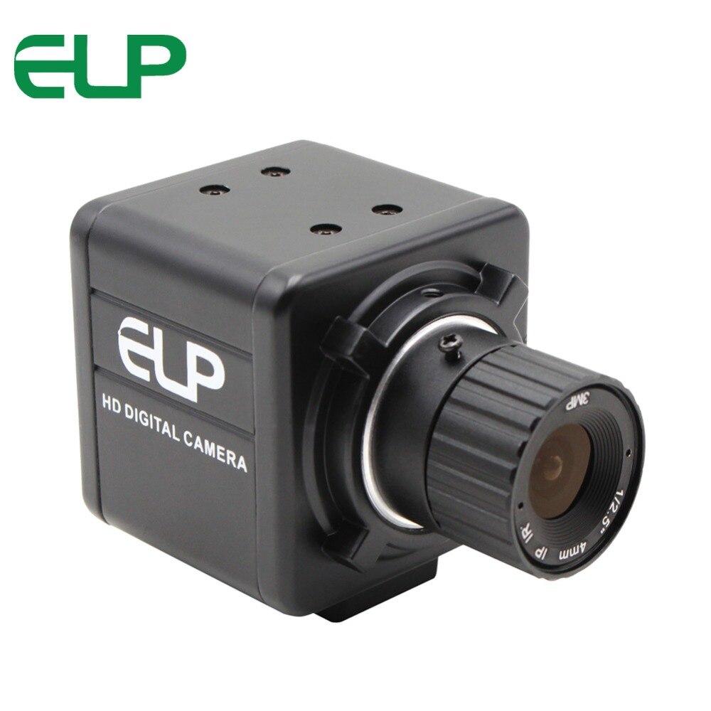 Boîtier en métal noir 720 P CMOS OV9712 MJPEG YUY2 HD caméra Audio vidéo CCTV pour autoradio Android, connexion de support avec trépied