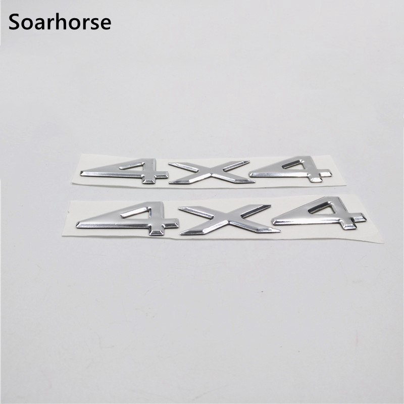 Soarhorse 2pcs/lot Silver 4x4 Letters Emblem Sticker For Jeep Grand Cherokee Car Body Decoration Decal new power steering pump for car jeep grand cherokee suv 2 7 crd 4x4 diesel