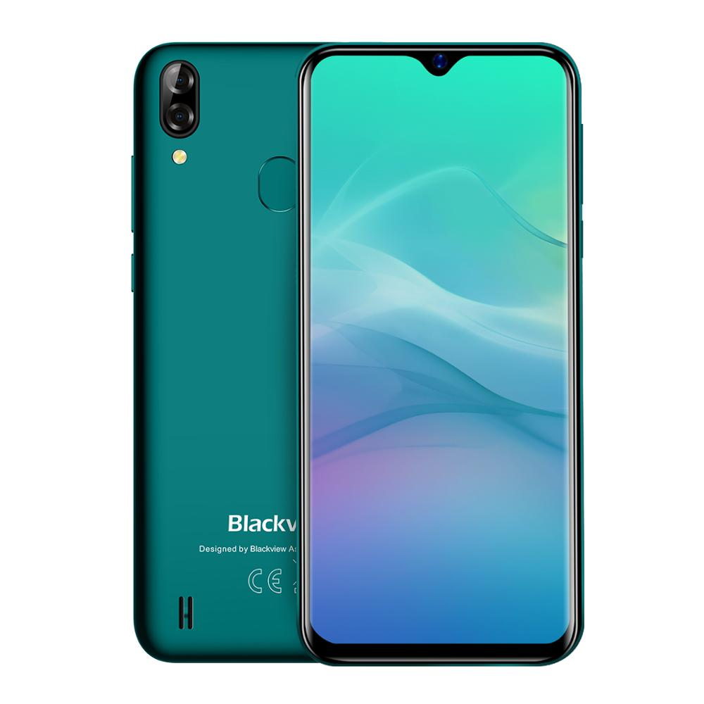 Blackview A60 Pro Smartphone MTK6761 Quad Core Android 9.0 4080mAh Cellphone 3GB+16GB Waterdrop Screen Face ID 4G Mobile