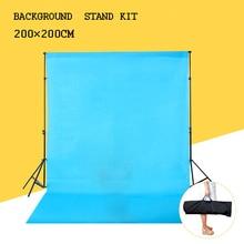 200 cm * 200 cm Fundo Titular Kit Suporte de luz Barra Transversal de Musselina Pano de Fundo Sistema de Apoio