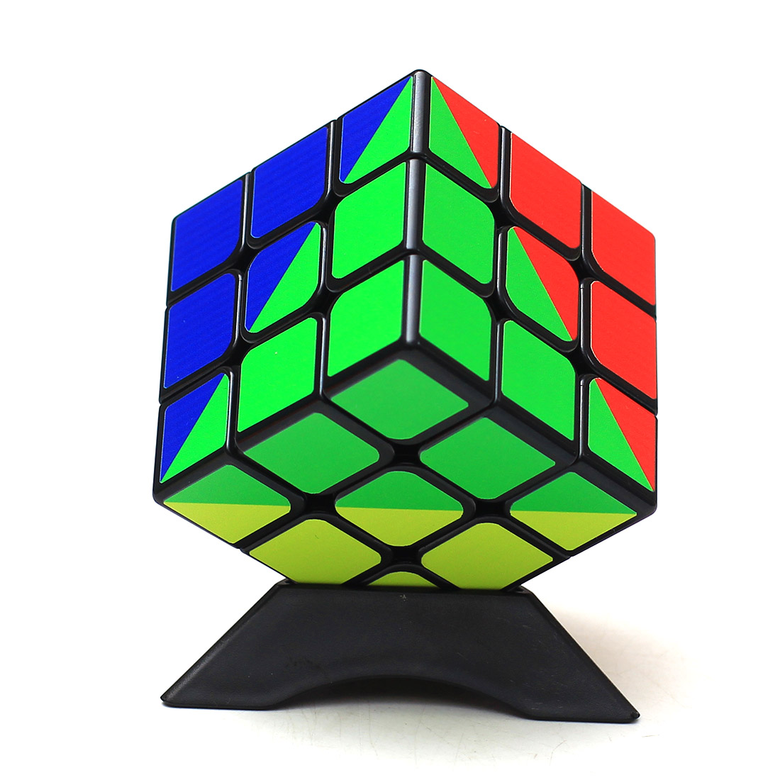 Z-cube Rainbow Type 3x3x3 Magic Cube Puzzle Cube Intelligent Gift Toys For Kids - Black цена
