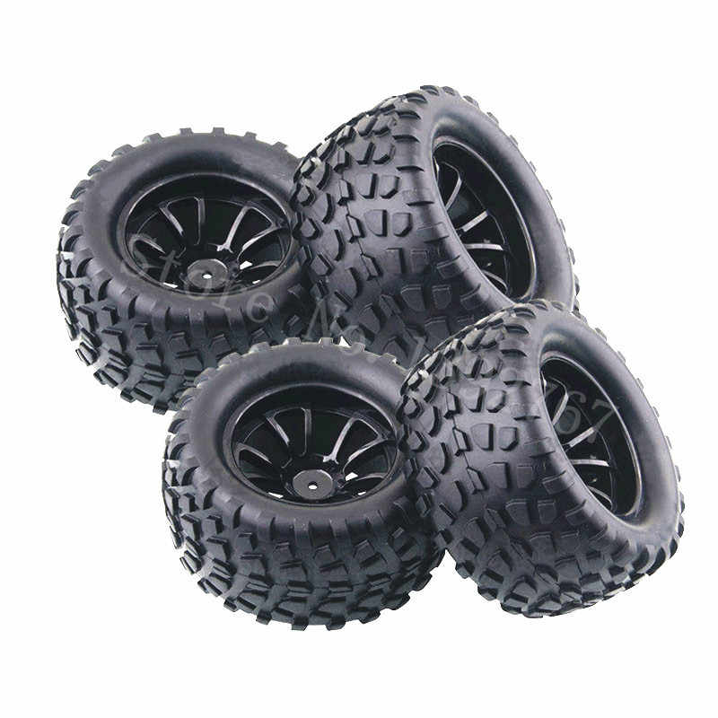 4Piece/Lot RC Rubber Sponge Tires Tyre Rim Wheel For RC 1/10 Scale Models RC Car HSP Off Road Monster Truck 94111 94108 94188