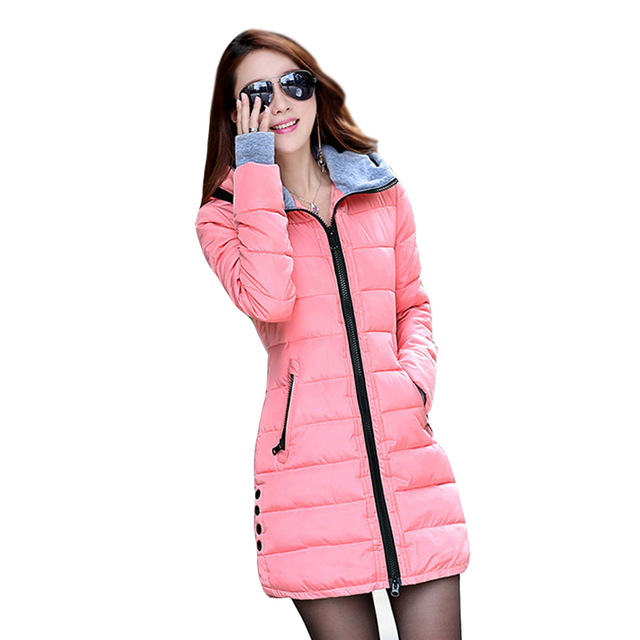 2017 New Women's Winter Fashion jacket Down Cotton Outwear Jacket Slim Parkas Ladies Coat Plus Size L-XXXL C020