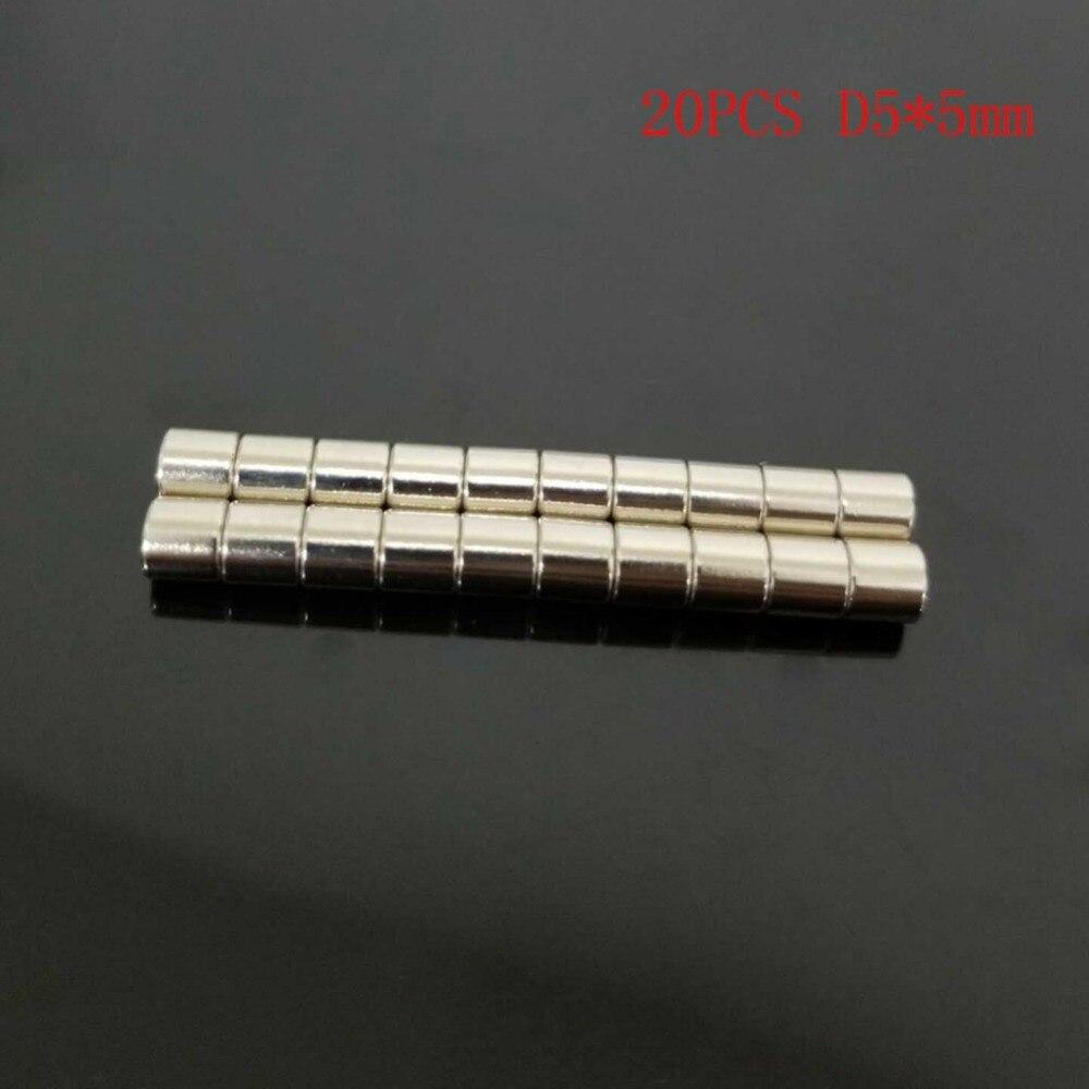 magnet Neodymium Disc Magnets N52 Craft Reborn Fridge Diy NdFeB Magnetic Materials 20 pcs 5mm Dia x 5mm