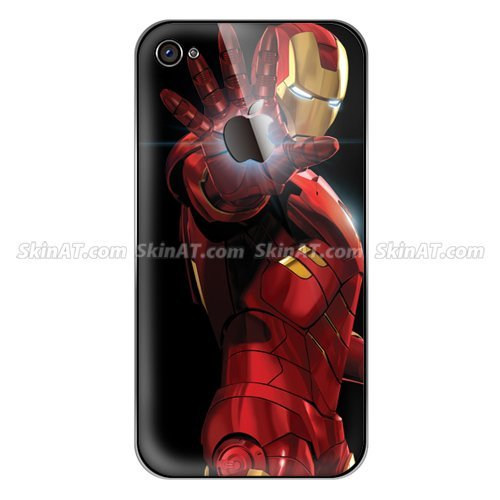 FREE SHIPPING Wholesale Iron Man Mobile Phone Decal Sticker Screen Protector Vinyl Skins for i-Phone