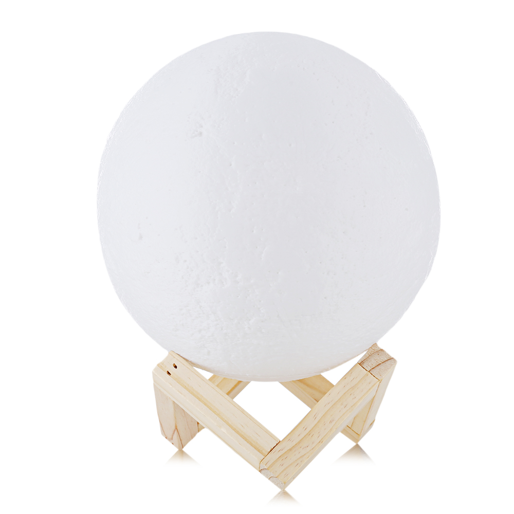 Rechargeable 3D Print Moon Lamp multi Color Change Touch Switch Bedroom Bookcase Night Light Home Decor Creative Gift
